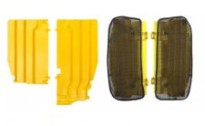 New Suzuki RMZ 250 10-18 Radiator Rad Louvres Plastics & Mesh Covers Yellow